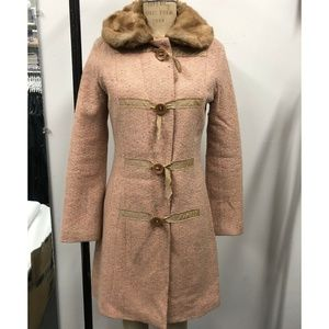Light Pink Tweed Duffle Coat